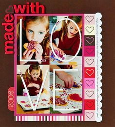 Look to Ads for Scrapbook Page Inspiration combine other ideas from other pinned pages