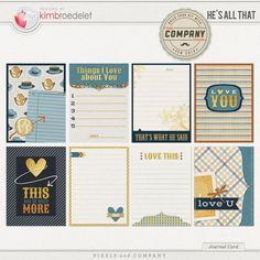 He's All That - Journal Cards by KimB