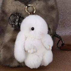 2017 Backpack Pendant New Fashion Car Play Dead Rabbit Key Chain Fur Pom Pom Mini Rex Rabbit Keychain Bag Car Hanging Pendant Jewelry From Funphone, $4.23 | Dhgate.Com