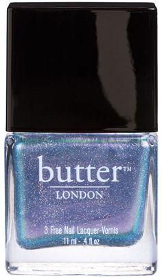 iridescent blue nail polish