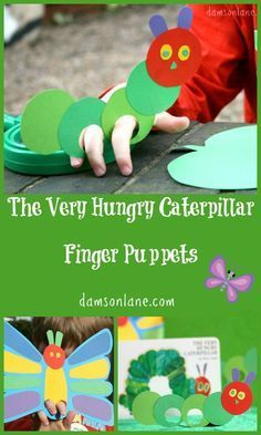 Bringing books to life - The Very Hungry Caterpillar Finger Puppets from damsonlane.com