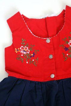 Vintage Girls Fun German Dress (dirndl dress) . How fun!