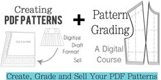 Creating PDF Patterns and Pattern Grading - Online Class - Blank Slate Patterns Types Of Patterns, Pdf Patterns, Blend Tool, Pattern Grading, Importance Of Time Management, Teacher Discounts, Pattern Blocks, The Help, Teaching