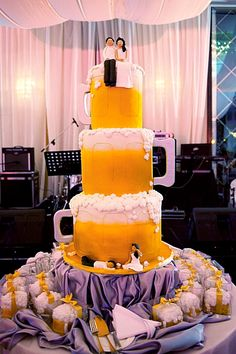 beer lover wedding cake