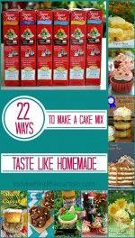 22 Ways to Make a Cake MIx Taste Like Homemade - Cake Recipes Recipes Using Cake Mix, Homemade Cake Recipes, Baking Recipes, Baking Tips, Make Cake Mix Taste Homemade, Homemade Carrot Cake, Baking Secrets, Baking Hacks, Cake Mix Desserts