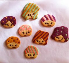 refrigerated cookies w/ various faces