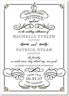 Celebrated Scrolls - Signature White Wedding Invitations - Sarah Hawkins Designs - Gunmetal - Gray : Front