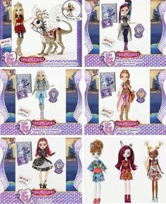 Ever After High Dragon Games with NEW Characters: Mira Shards & Forest Pixies Featherly, Harelowe & Deerla.