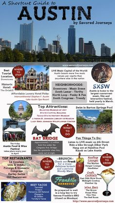 TEXAS: Your one-stop quick guide to everything you must see, do, eat and drink in AUSTIN, TX. Oh The Places You'll Go, Places To Travel, Travel Destinations, Places To Visit, Delicious Destinations, Time Travel, Usa Roadtrip, Texas Travel, Travel Usa