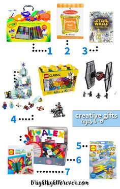 Every mom needs this list! Creative Christmas and birthday gifts to give first graders and second graders.