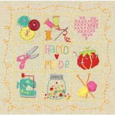 Dimensions Handmade Sampler Stamped Embroidery Kit, Multi-Colour