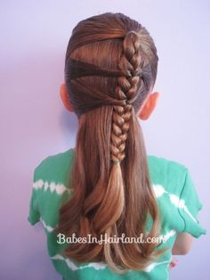Side Braid and a Topsy Tail Twist