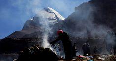 Die einheimische Tibetaner kochen während Ihrer Umrundung um Mount Kailash.