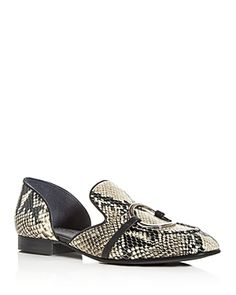 SIGERSON MORRISON-loafers-WOMEN'S SMIANTHE SQUARE-TOE D'ORSAY LOAFERS. #sigerson-morrison #loafers Loafers Online, Sigerson Morrison, Fall Trends, Loafers For Women, Loafer Shoes, Slippers, Toe, Leather, Stuff To Buy