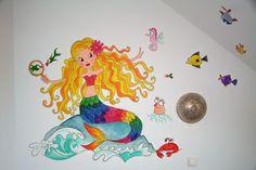 Muurschildering zeemeermin