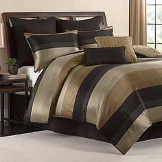 This sleek comforter set gives you everything you need to create an opulent sanctuary in your bedroom. 100% polyester.