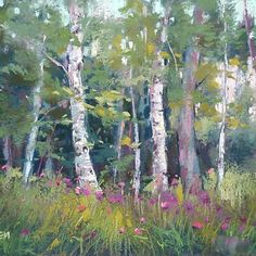 karenmargulis - Woodland Reverie is today's daily pastel painting. Memories of a walk in the woods in Finland.