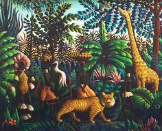 Jungle Encounter 1967 by Orville Bulman