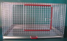"Stackable single rabbit cage made of 1"" X 1"" -14ga GAW wire. Size is 18"" X 30"" X 15""H (17"" Total Height) Slide out tray for your convenience. Assembled. May not be exactly as pictured."