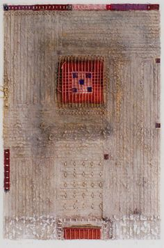 D-23.Feb.1998  44x30cm  paper making, painting, collage  林孝彦 HAYASHI Takahiko 1998    this photo by Yanagisawa Gallery