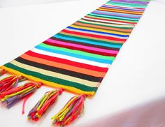 Mexican Table Runner Turquoise Stripes | Products | Pinterest | Products