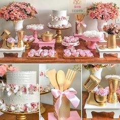 New Shabby Chic Cake Table Ideas Bridal Shower Tables, Bridal Shower Decorations, Wedding Decorations, Table Decorations, Cake Table, Dessert Table, Pasteles Shabby Chic, Mein Café, Shabby Chic Cakes