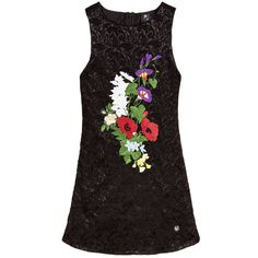 Love Made Love Girls Black Embroidered Floral Jacquard Dress  at…