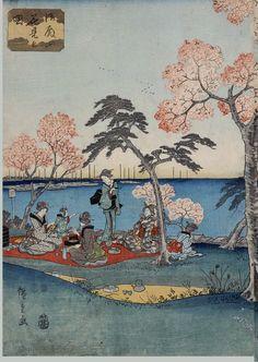 Japanese Art Prints, Art Japonais, Asian Art, Alice In Wonderland, Oriental, Vintage World Maps, Cross Stitch, Illustration, Poster