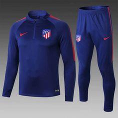 Atletico Madrid 18 19 Bright Blue Men Tracksuit Slim Fit – zorrojersey  Football Tops 395bc8b7d