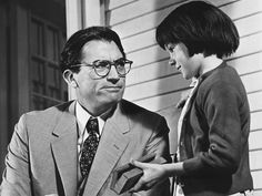 """Atticus Finch (Gregory Peck) and Scout Finch (Mary Badham) in """"To Kill a Mockingbird"""" Mary Badham, Go Set A Watchman, Southern Baby Names, Atticus Finch, Harper Lee, To Kill A Mockingbird, Baby Girl Names, Down South, Classic Books"""