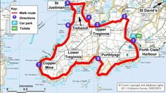 Map route for Treginnis walk