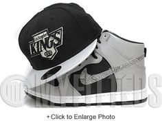 official photos 48933 a6394 Los angeles kings air jordan v metallic new era 59fifty fitted hat