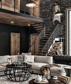 Nine Ways to Incorporate Industrial Chic Interior DesignYou can find industrial chic decor and more on our website.Nine Ways to Incorporate Industrial Chic Interior Design Dream Home Design, Home Interior Design, Interior Decorating, House Design, Interior Modern, Decorating Ideas, Industrial Chic Decor, Industrial House, Industrial Design
