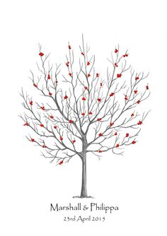 Rowan Tree Fingerprint Guest Book Kit