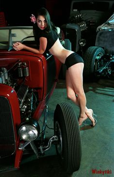 Wow! Beautiful pin up and hot rod!