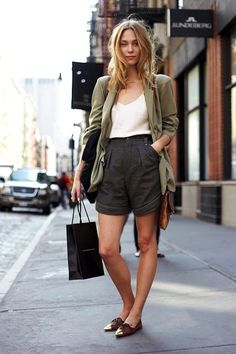 Model-Off-Duty Style: Get Zuzanna Krzatala's Polished Shorts Look (via Bloglovin.com )