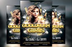 Check out Gold Rush Girls Flyer Template by Flyermind on Creative Market