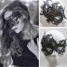 Halloween Mask Lady Lace Mask Cutout Eye Deguisement Cosplay Party Masquerade Masks