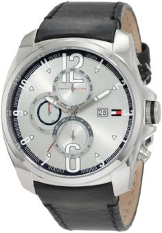 Men's Wrist Watches - Tommy Hilfiger Mens 1790833 Sport Stainless Steel and black strap with Multifunction dial Watch *** Read more at the image link.