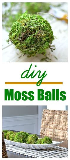 DIY moss ball tutorial - Get that natural, rustic Fixer Upper style on a dime!