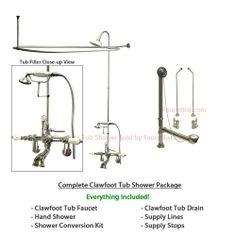Clawfoot Tub Shower Kit Chrome from Kingston Brass Clawfoot Tub