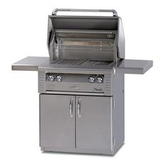 Alfresco 36 Inch Freestanding Grill with 660 sq. Grilling Surface, Three BTU Main Burners, Infrared Sear Zone™, Integrated Rotisserie Smoker and Herb Infuser System, Warming Rack and Halogen Lighting: Liquid Propane Propane Gas Grill, Gas Bbq, O Gas, Grill Cart, Bbq Grill, Rotisserie Smoker, Beverage Center, Stainless Steel Grill, Outdoor Cooking