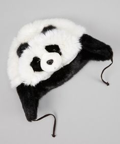 Take a look at this White & Black Panda Trapper Hat by Jeanne Simmons Accessories on today! Diy For Girls, Little Girls, Girly Girls, Cute Girl Outfits, Kids Outfits, Panda Love, Panda Bear, Black And White Love, Trapper Hats