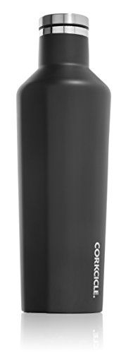 Corkcicle Canteen - Water Bottle and Thermos - Keeps Beverages Cold for Over 25, Hot for Over 12 Hours - Triple Insulated with Shatterproof Stainless Steel Construction - Matte Black - 16 oz. ** Want to know more, click on the image.
