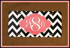 Personalized Monogrammed License Plate Car Tag by ChicMonogram, $25.00