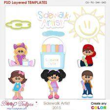 Sidwalk Artist Layered Element Templates cudigitals.com clipart template cu commercial scrap scrapbook digital graphics #cu #scrapbooking #photoshop #digiscrap