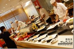 Main buffet area for Miraku Japanese Buffet Review