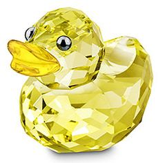 Yep, mmhhmm, we so rich, my baby's rubber duckie is made of Swarovski crystal! :O :P Sunny Sandy #swarovski Green And Orange, Lemon Yellow, Glass Animals, Happy Colors, Swarovski Outlet, Swarovski Crystal Figurines, Swarovski Crystals, Glass Figurines, Collectible Figurines