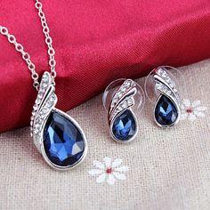 Crystal Water Drop Set