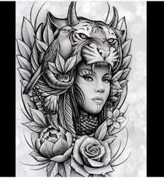 67 ideas for tattoo sleeve animal faces Native Tattoos, Wolf Tattoos, Lion Tattoo, Animal Tattoos, Body Art Tattoos, New Tattoos, Girl Tattoos, Tattoos For Guys, Sleeve Tattoos